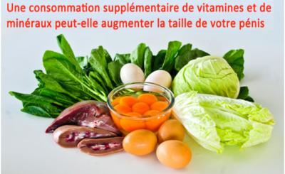 Une consommation supplémentaire de vitamines et de minéraux peut-elle augmenter la taille de votre pénis?