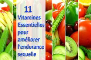 11 vitamines essentielles pour améliorer l'endurance sexuelle