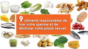 9 aliments responsables de tuer votre sperme et de diminuer votre plaisir sexuel