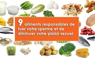 aliments responsables de tuer votre sperme et de diminuer votre plaisir sexuel